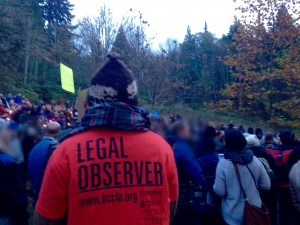 Legal Observer on Burnaby Mountain
