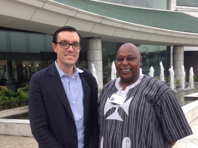 Josh with UN Special Rapporteur