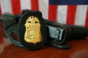 FBI badge and gun public domain