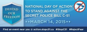 National Day of Action Against Bill C-51