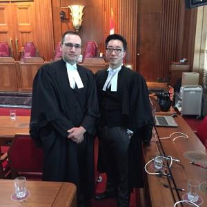 Pro bono lawyers Gerald Chan and Nader Hasan