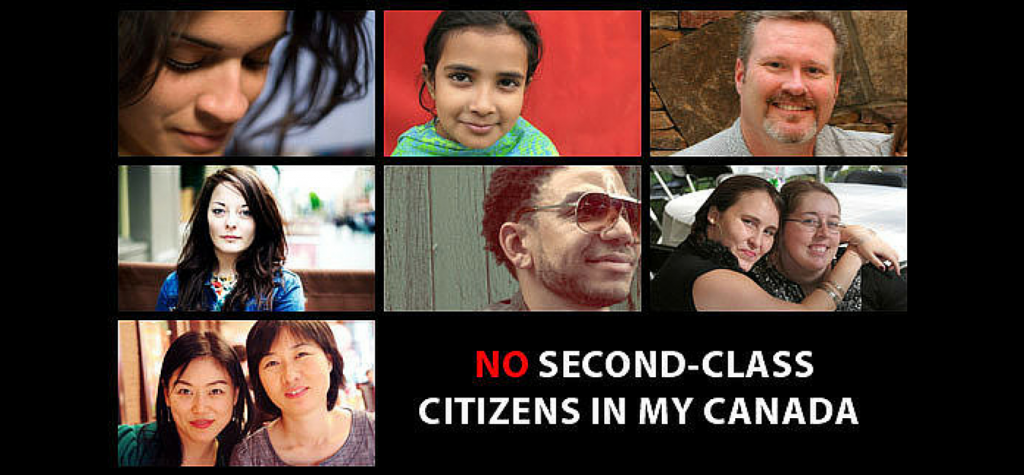 No Second-Class Citizens in My Canada