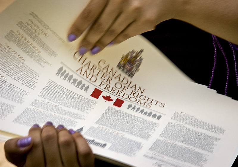 Canadian Charter of Rights and Freedoms. (Marc Lostracci)