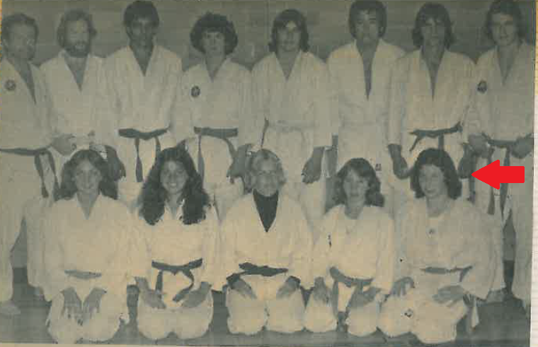 Policy Director, Micheal Vonn, with her judo club, back in the feathered bangs era.