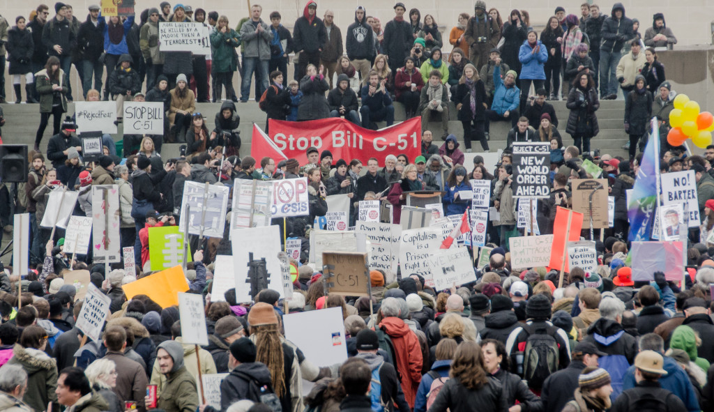 Anti Bill C-51 Demonstration in Toronto ( Nicolai Grut)