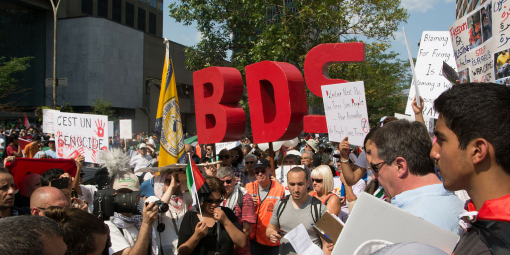 BDS Protest in Montreal