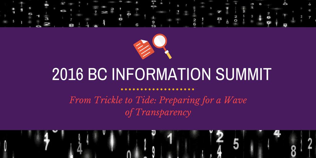 2016 BC INFORMATION SUMMIT