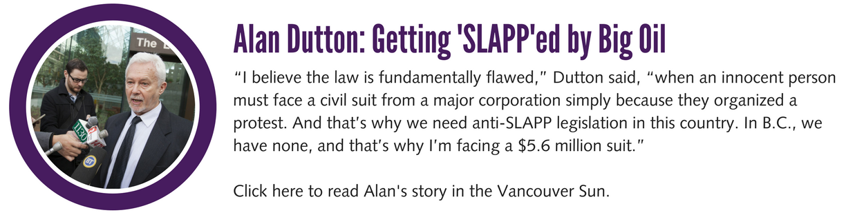 Alan Dutton- Getting SLAPPed by Big Oil