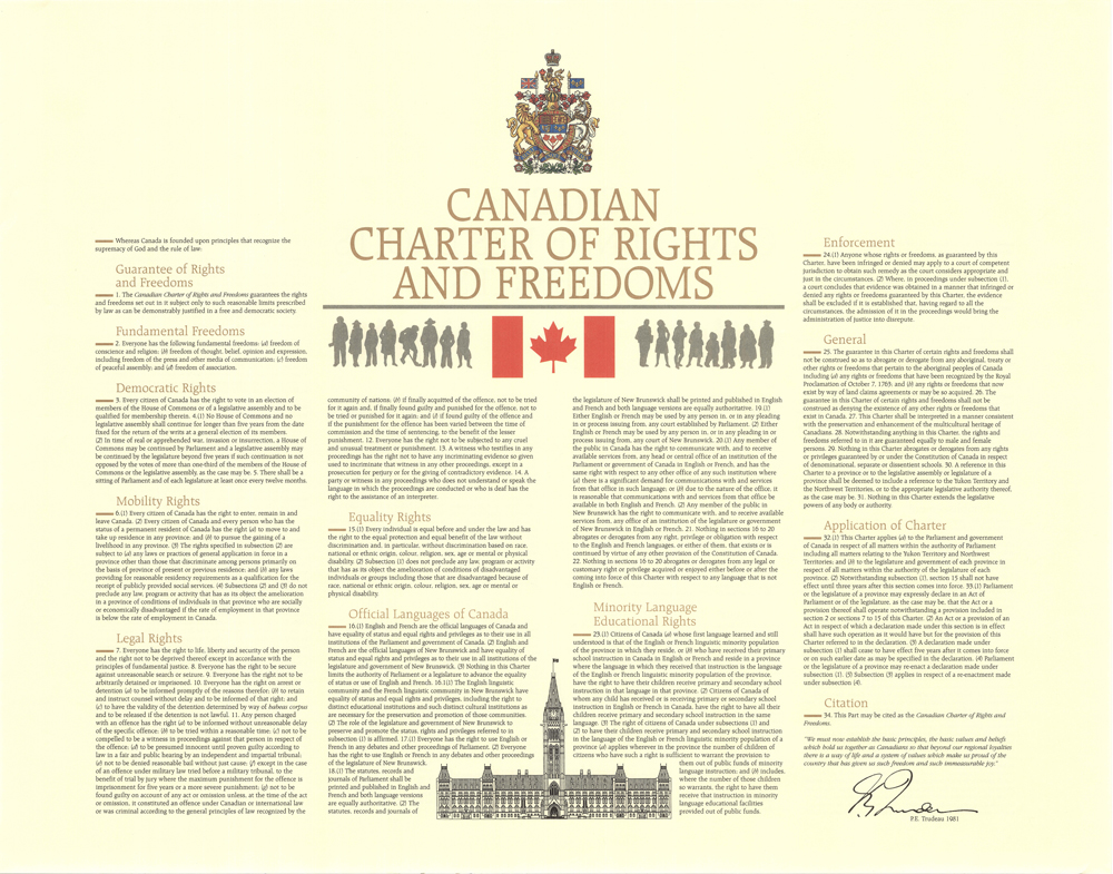 an analysis of the significance of the canadian charter of rights and freedoms in the canadian const The pridgen abca case takes on a greater significance when considered in the context of  section 32 analysis, her decision's relative legal and public obscurity, coupled with the broad  1 canadian charter of rights and freedoms, part i of the constitution act, 1982, being schedule b to the canada act 1982 (uk), 1982,.