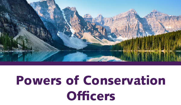 Powers of Conservation Officers
